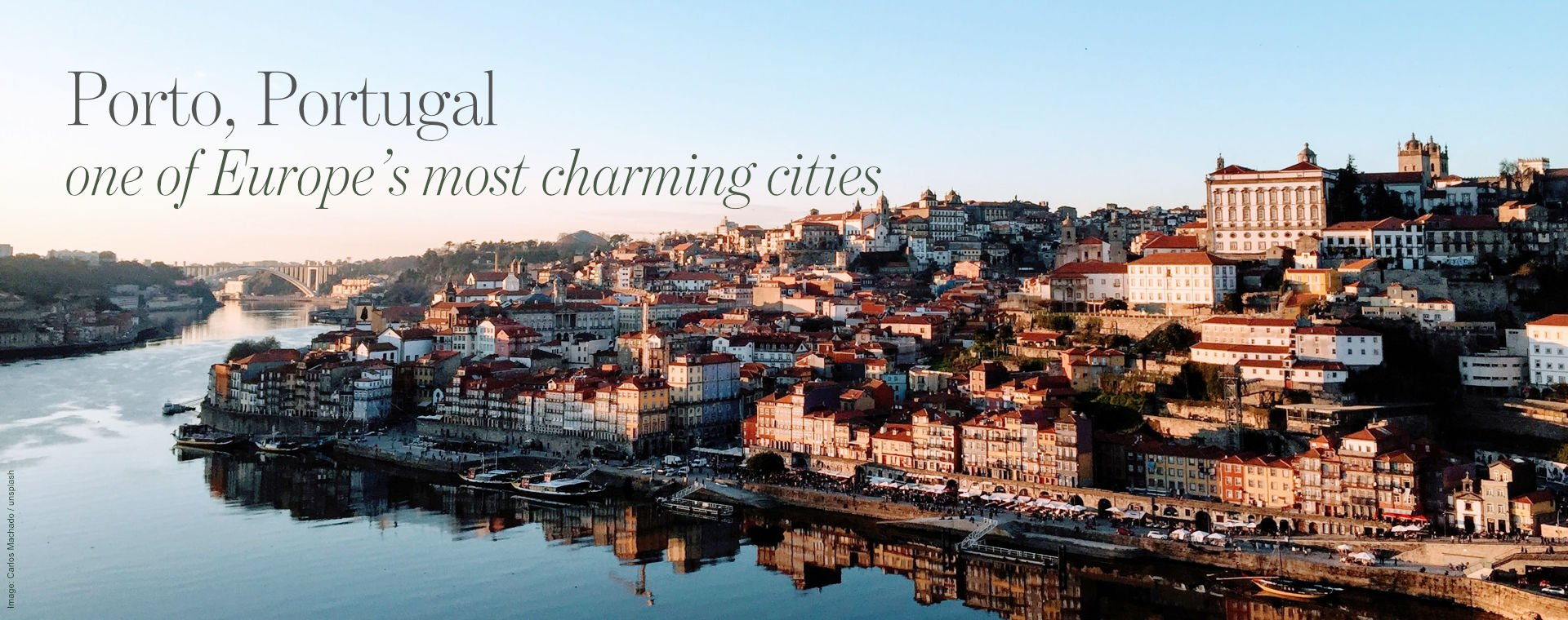 Early morning panorama over Porto, Portugal
