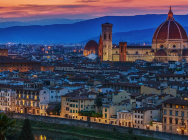 View over the rooftops of Florence, Italy