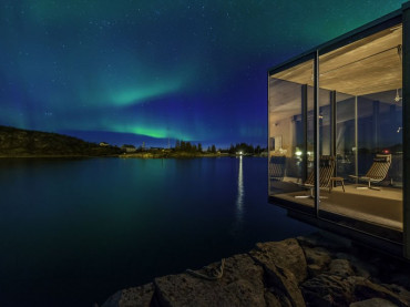 Aurora borealis seen from Manshausen Island Norway