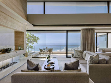 Interior of luxury lounge in Cape Town villa