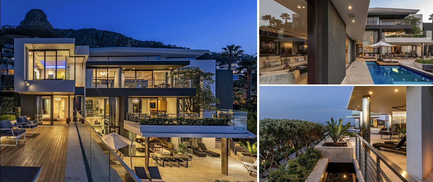 Collage of luxury villa in Camps Bay in Cape Town