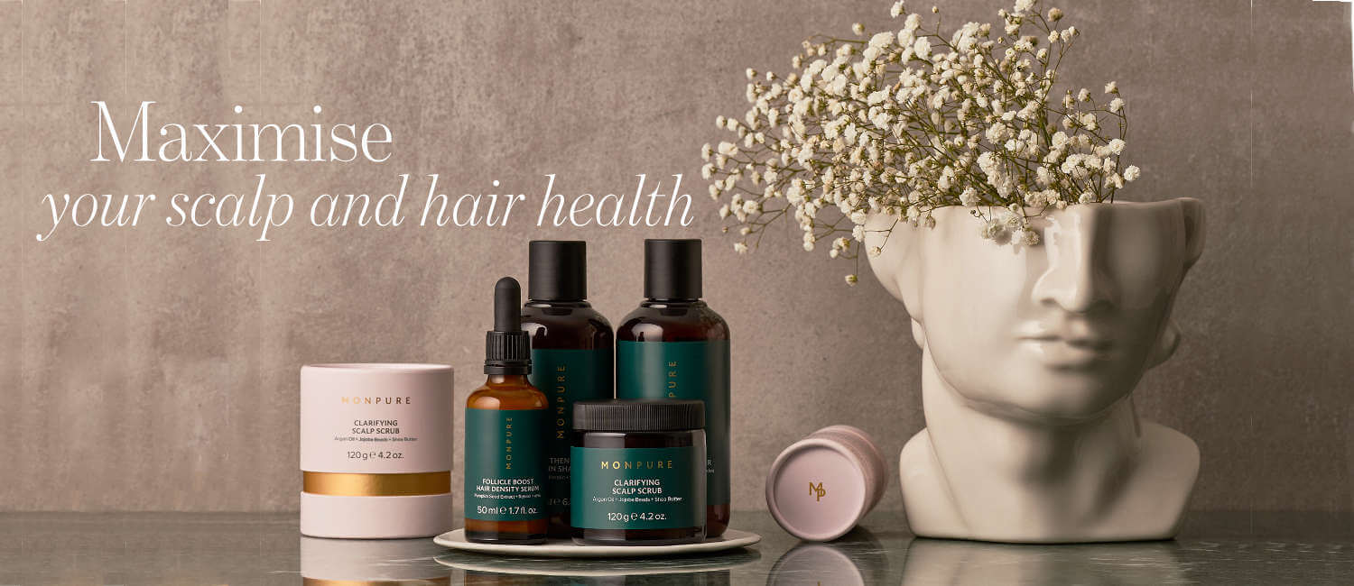 Scalp and hair care products from Monpure