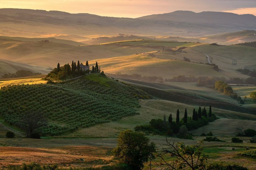 Hilltop property in Chianti Tuscany