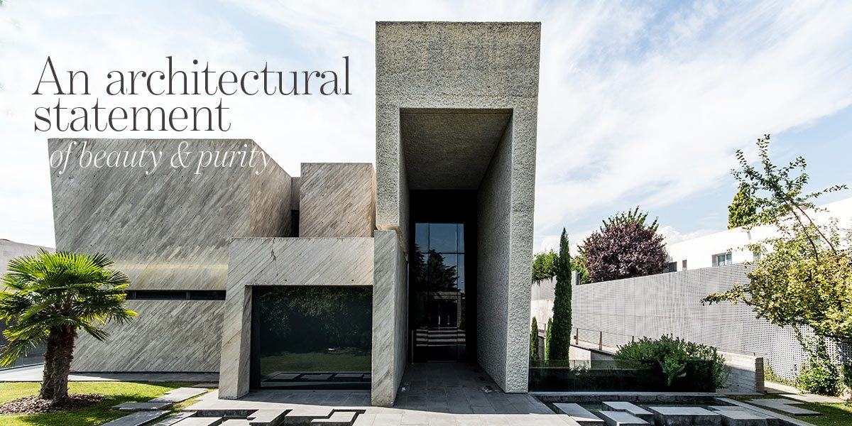 An architectural statement of beauty and purity - modern contemporary house for sale in Madrid