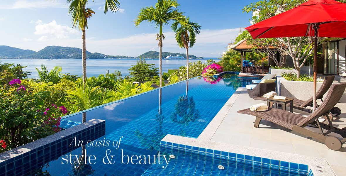 An oasis of style & beauty - Luxurious oceanview villa in Phuket